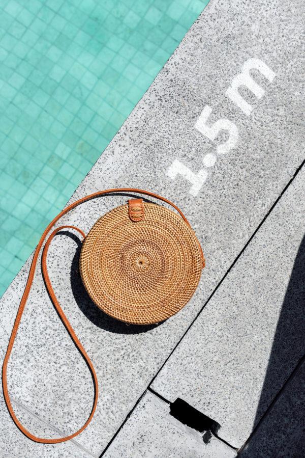 Ata Bali Bag Tasche rund Pool 20cm